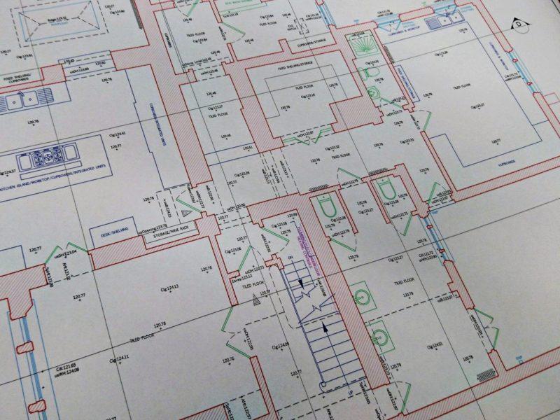 Floor plan example drawing