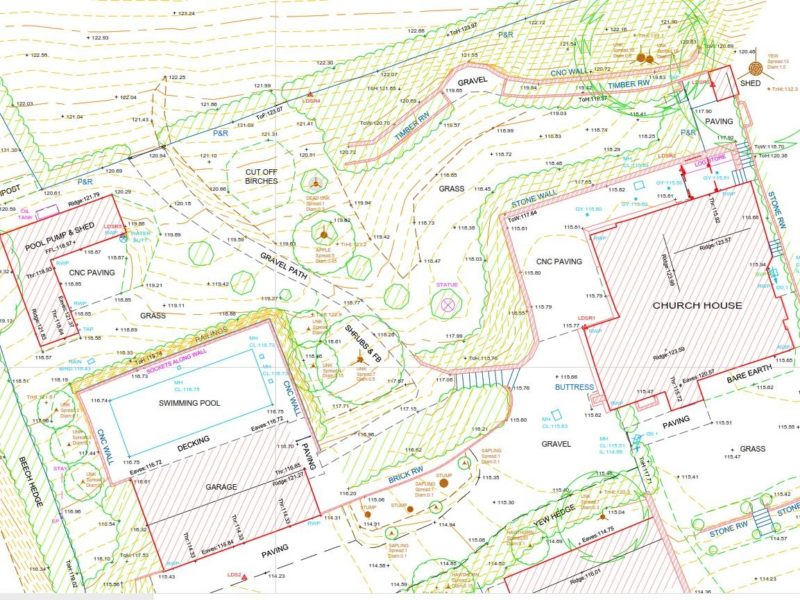 Topographic survey example drawing