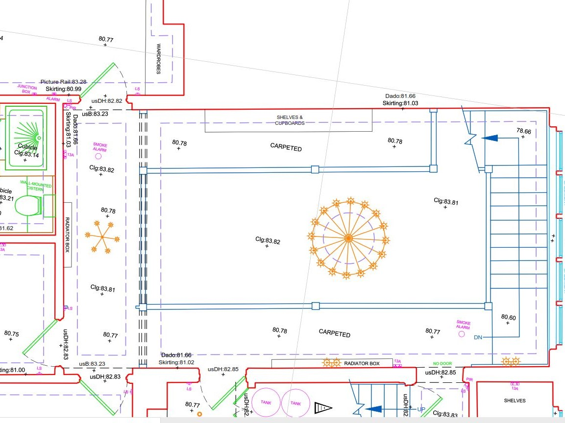 Detailed floor plan example drawing